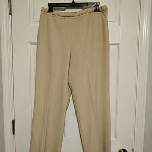 Ann Taylor Khaki Wide Leg Dress Pants
